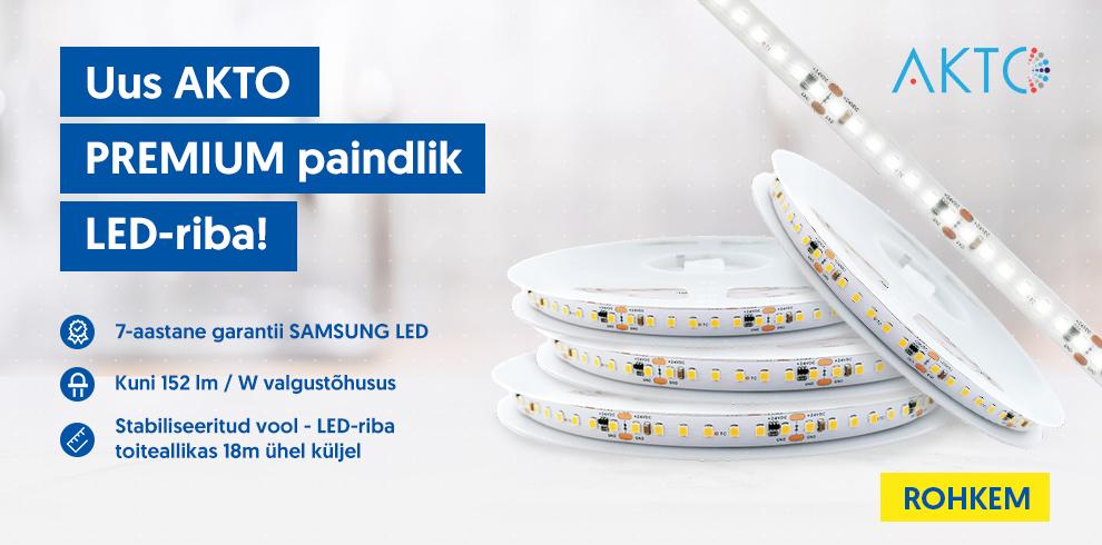 Uus AKTO PREMIUM paindlik LED-riba!