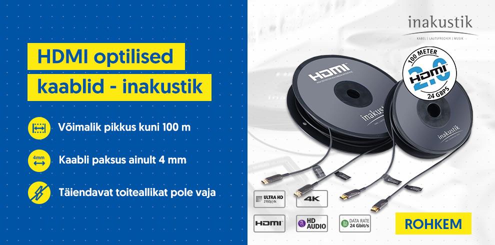 HDMI optilised kaablid